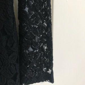 Forever 21 Dresses - Black Lace Long Sleeve Mini Dress - M